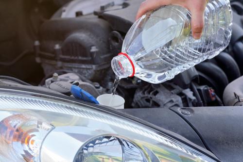 ウォッシャー液は水道水で代用できる?